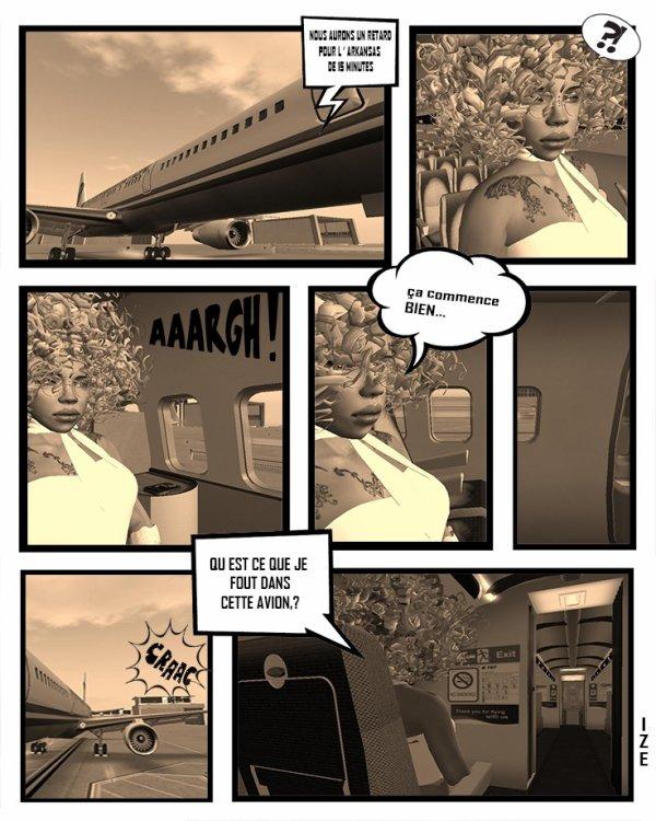 dans l'avion quand je pars le voir