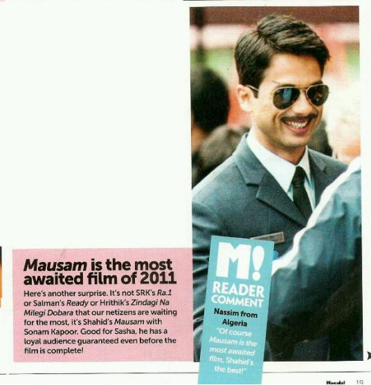 Mausam est le Film le plus Attendu de l'Année 2011