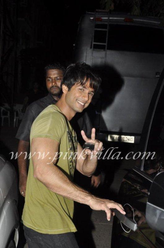 Shahid Kapoor aux Mehboob Studios
