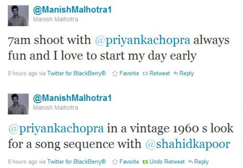 Un Clip 'Sixties' pour Shahid Kapoor & Priyanka Chopra