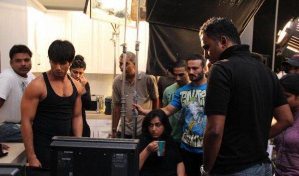 Tournage de la Publicité pour Bru avec Shahid Kapoor