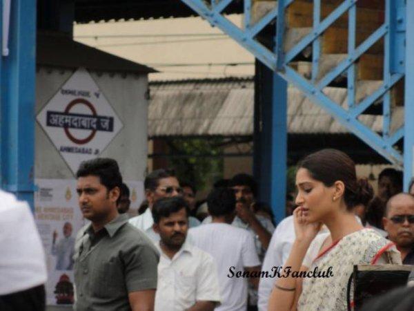 Sonam Kapoor sur le Tournage de Mausam