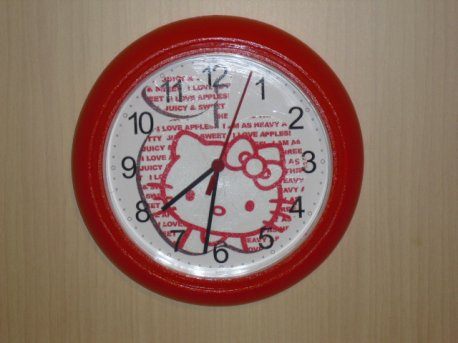 "Nouvelle horloge "" HELLO KITTY """