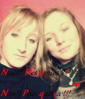 Texte de moi, Photo de mon amie et moi..