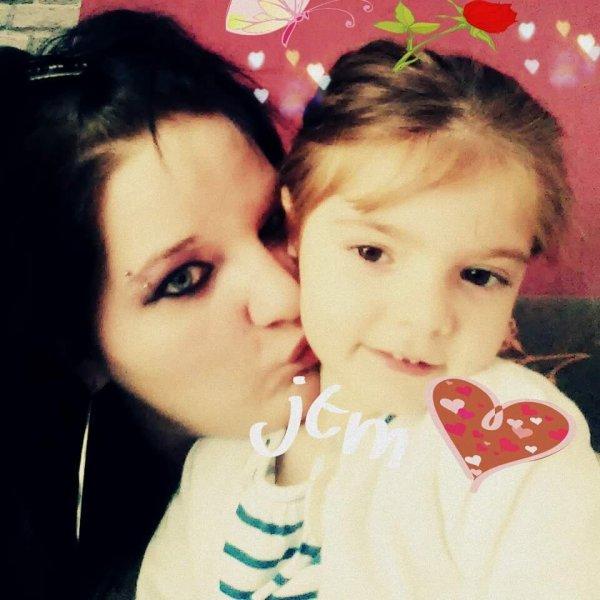 Yo y mi pequeña princesa mi hija