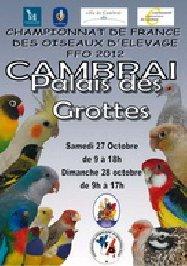 championnat de france FFO 2012 A CAMBRAI  du 22 octobre au 28 octobre