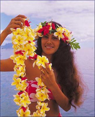 Des Fleurs Vahinee Tahiti Tautira