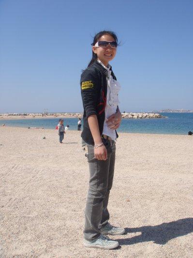à la plage à Marseille!!