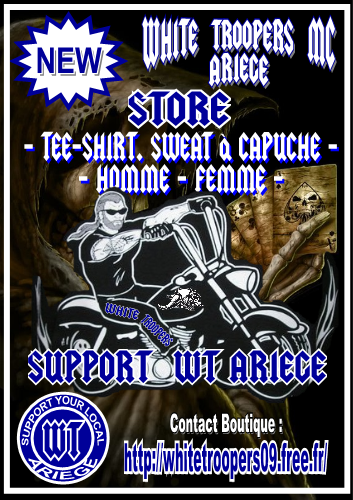 BOUTIQUE WHITE TROOPERS MC ARIEGE