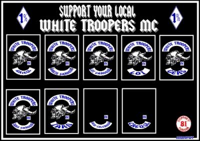 WHITE TROOPERS MC             WHITE TROOPERS MC             WHITE TROOPERS MC