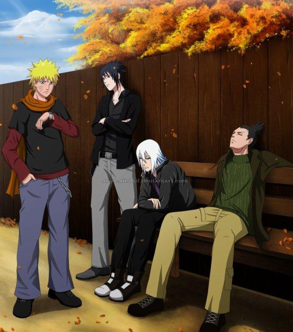 Naruto - Sasuke - Suigetsu & Shikamaru