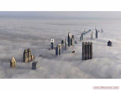 Les gratte-ciels de New York ......... au-dessus des nuages !