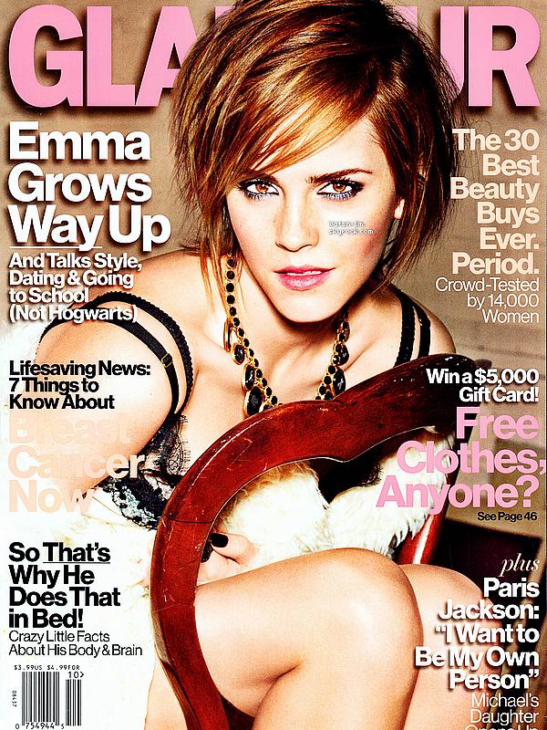 -  ______• MAGAZINES ; Emma fera la couverture du GLAMOUR US pour Octobre. -