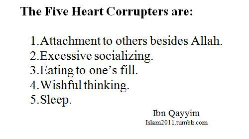 5 choses qui corrompre le coeur
