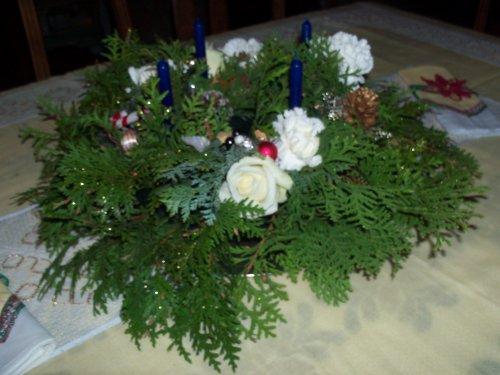 mon cours d'art floral de ce mardi qui represente les 4 dimanche de l'avant