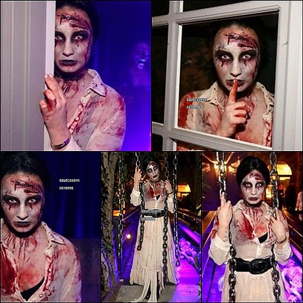 31/10/2013 : Demi a organisé une fête d'Halloween, chez elle, a Los Angeles. Mon avis? Demi fait peur! C'est un top!