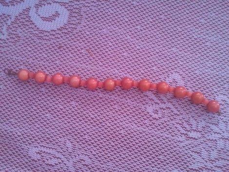 bracelet orange perles magique