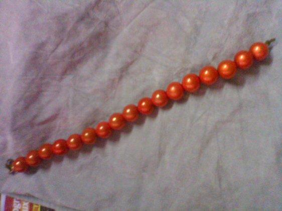 Bracelet perles magique orange
