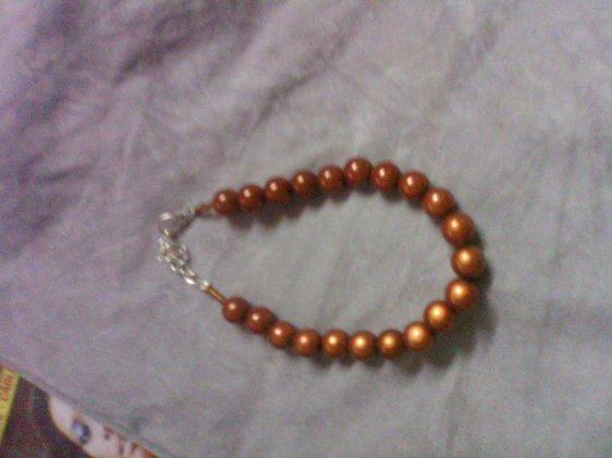 Bracelet perles magique marron