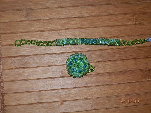 parure bague et bracelet