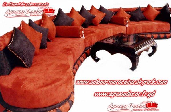 salon marocain lartisanat du salon marocain wwwsalonmarocaine monsitecom wwwsalonmarocainfr - Salon Marocain Moderne Orange Marron
