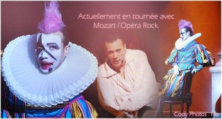 Merwan Rim ( comedien-chanteur ) dans le role d' Antonio Salieri ( remplace Florent Mothe )