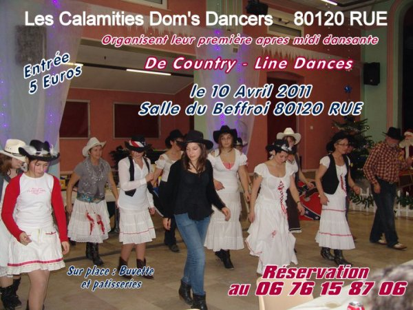 Première après midi dansante Du groupe des Calamities Dom's Dancers. Jeune Groupe créé en Octobre 2010.