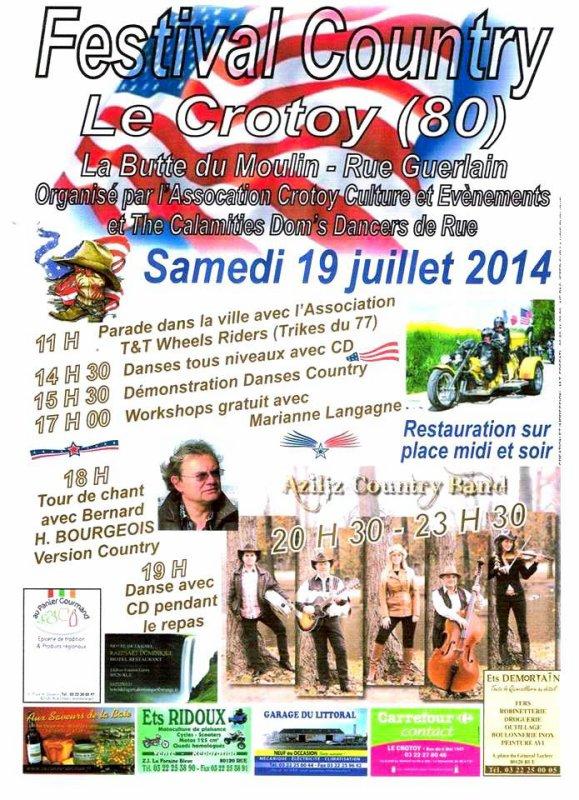 FESTIVAL DE COUNTRY LE 19JUILLET 2014 80550 LE CROTOY