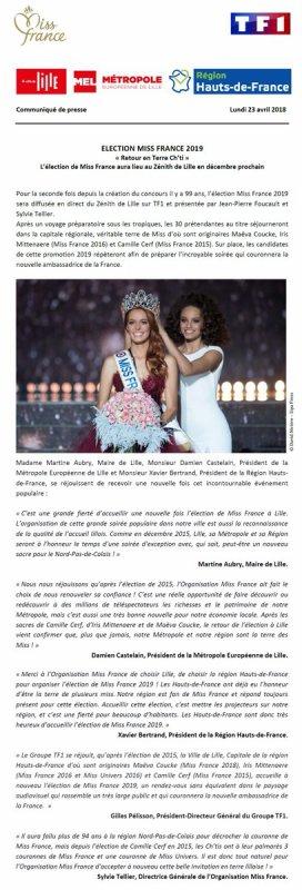Élection de Miss France 2019