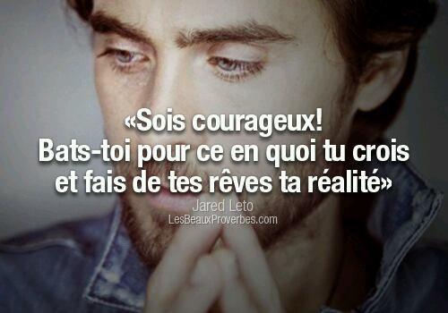 soi courageux