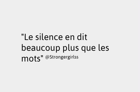 Un silence éloquent