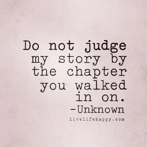 Ne juge pas