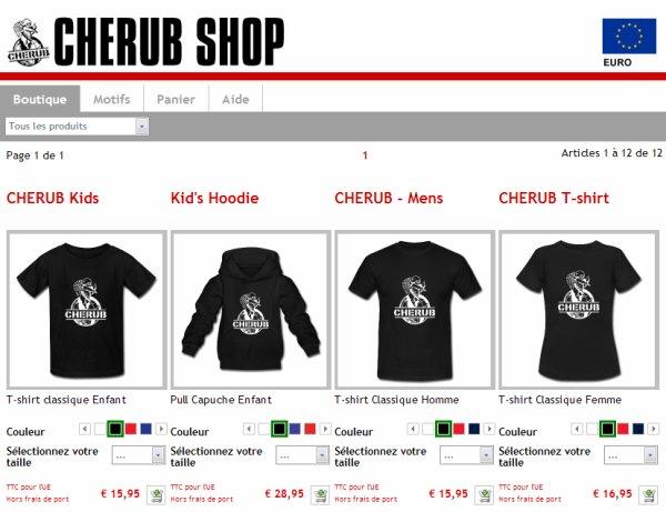 Exclusivité: Une boutique CHERUB française!