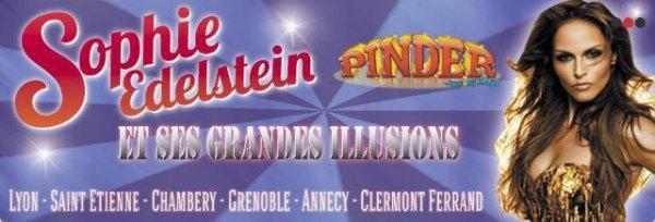 voici les datesde tournées  où Sophie sera presente avec le  cirque pinder =)