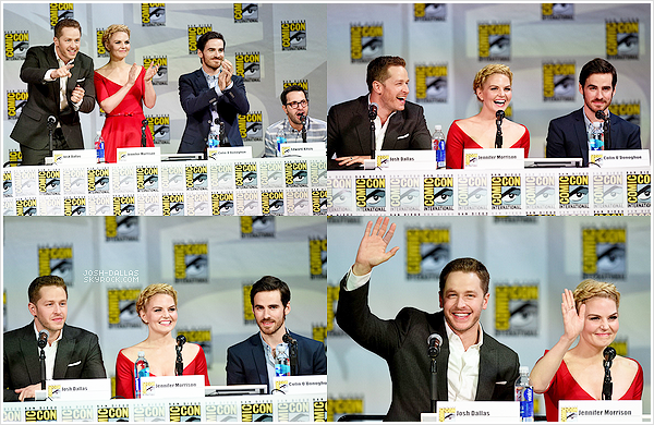 ▲ JOSH AND OUAT ON COMIC CON.       Par Elodie • Posté le 28/07/2014 • Évent • Photos.