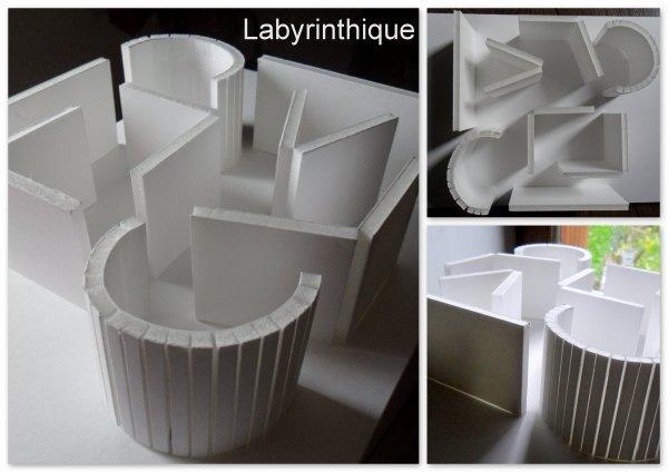 Maquette d'étude - labyrinthique