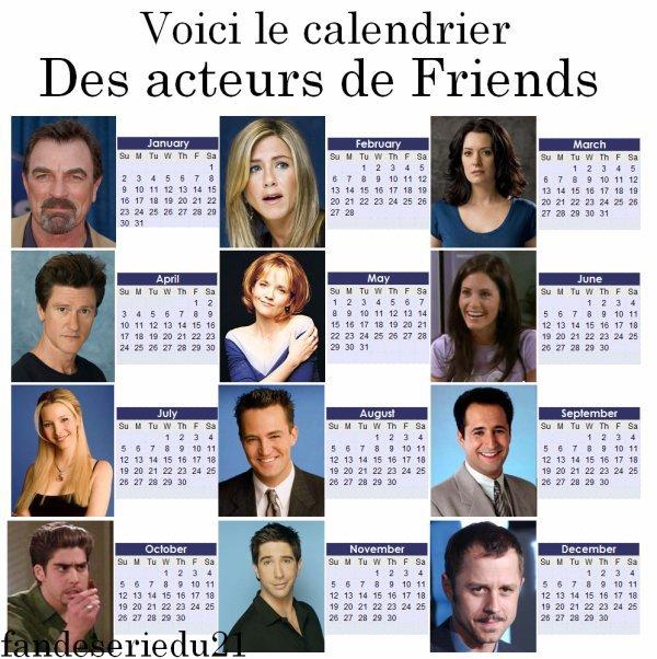 anniversaires des acteurs de friends