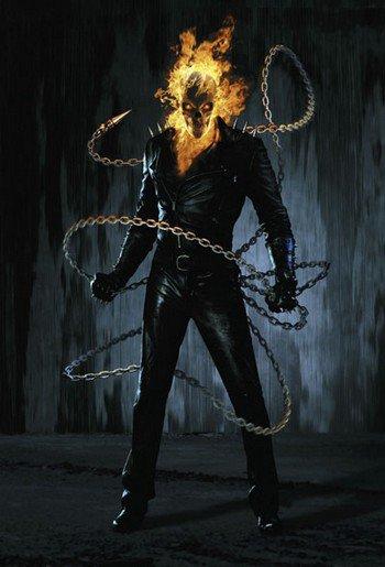 l'ange noir dit the gost rider......