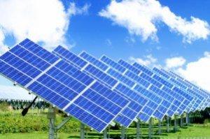 Panneaux photo-voltaïques servant à transformer la lumière en énergie électrique.