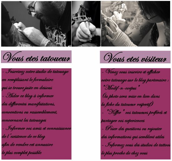 Salon de tatouage - Presentation