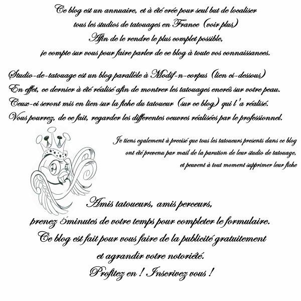 Salon de tatouage - Presentation