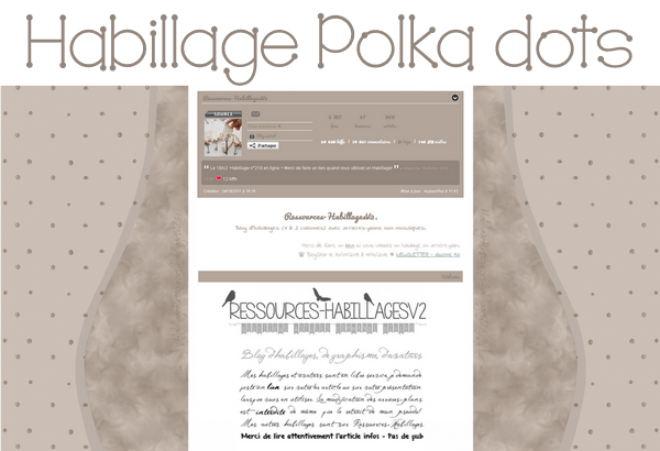Habillage Polka dots