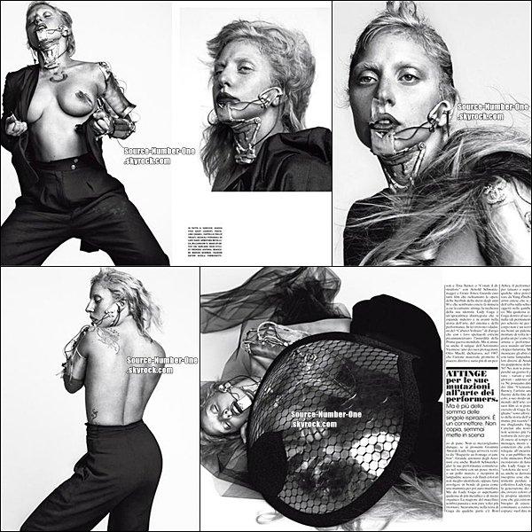 . Lady Gaga faisant la couverture de Elle Chinois. .