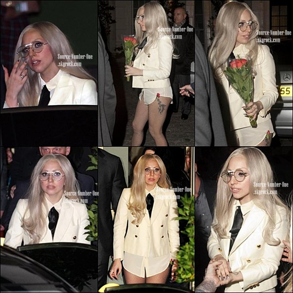 . 13/11-Lady Gaga quittant son hôtel londonien dans l'après-midi- surement pour rejoindre les studios de X-Factor (UK).   .