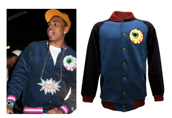 La veste Mishka porté par Chris Brown
