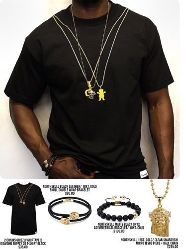 Nouveaux t-shirt Grizzly griptape et bracelet northskull