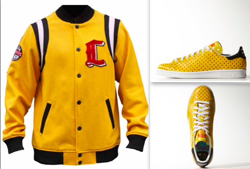 Stan smith Pharrell Williams assortie avec la veste Crooks Castles Masters Stadium Jacket Sunburst