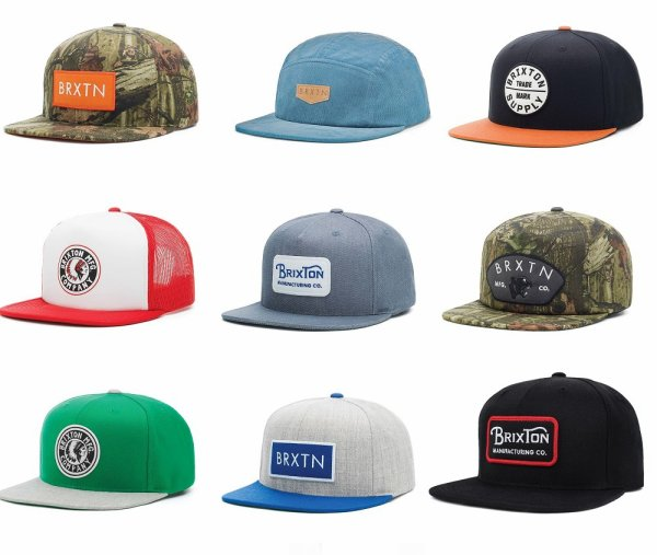 Nouvelles casquettes Brixton pour l'été 2015!