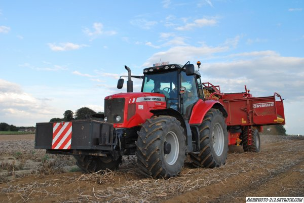 Arrachage Pomme De Terre Massey Ferguson 6490 avec Grimme SE 170-60 Et Massey Ferguson 7624 Avec Grimme SE 170-60