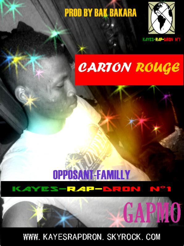 """CARTONROUGE"" / GAPMO ""CARTON ROUGE"" PROD BY BAK BAKARA (2016)"